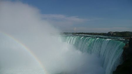 Horseshoe-falls-with-rainbow